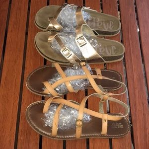 2 pairs of sandals Used from target size 9&10